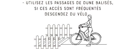 Nos conseils pour vos balades en Fatbike : Utilisez les passages de dune balisés